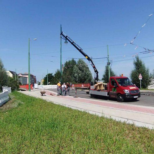 Eberswalde Umbau Kreuzung Friedensbrücke