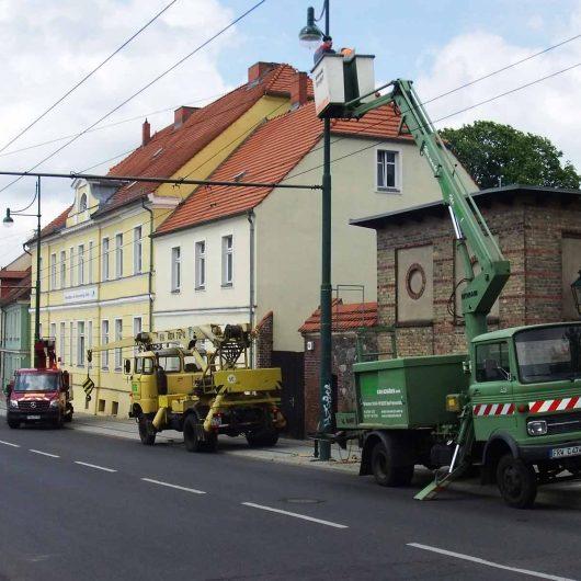 Umbau Beleuchtungsanlage Breite Straße Eberswalde